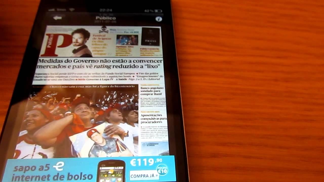Sapo Banca Revistas Jornais Tudo Grátis Para O Iphone Youtube
