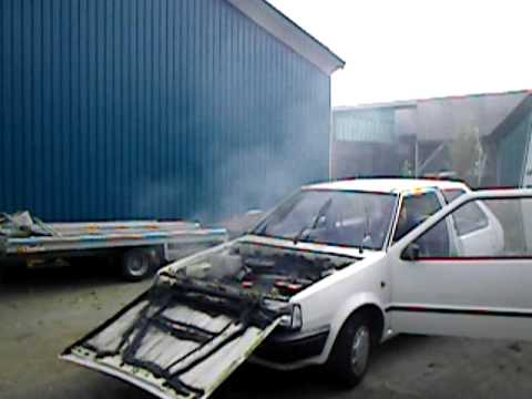 Killing a nissan micra engine youtube for Where can i get rid of used motor oil