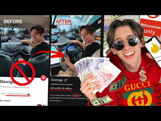 I FAKED being RICH on Tinder for MILLIONAIRES for a WHOLE WEEK *PHOTOSHOPPING MY TINDER* PRANK