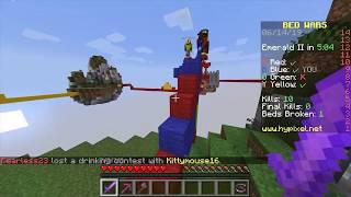 Minecraft BedWars 04: INSANE block clutch!