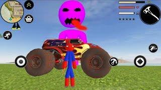 SPIDER STICKMAN ROPE HERO GANGSTAR CRIME - Walkthrough Gameplay Part 4 (Stickman Android Game)