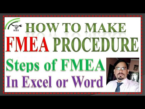 FMEA PROCEDURE, How To Make FMEA Procedure In Excel Or In Word, Steps Of Fmea.