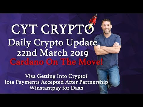 🔥Cardano On The Move 🔥Visa Getting Into Crypto 🔥Iota Payments Accepted 🔥 Dash Integration