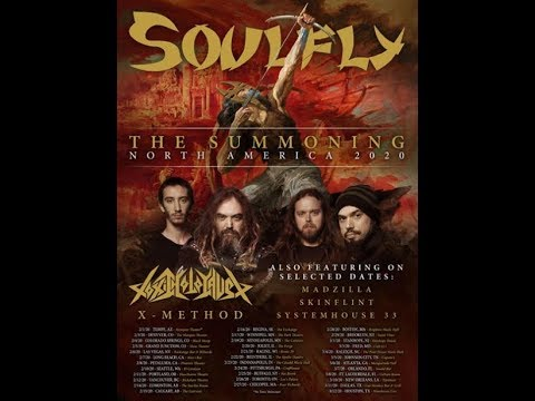 Soulfly unveil 2020 tour with Toxic Holocaust and X-Method ..!