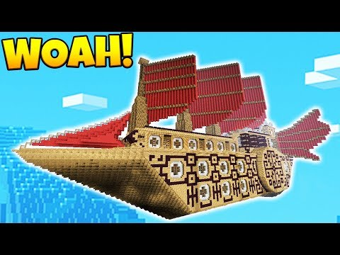 SKY ISLAND AIR SHIP WARS BRAND NEW MODDED GAMEMODE EVER - MINECRAFT MODDED MINIGAME
