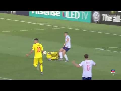 Англия U-21 - Румыния U-21 2:4. Чемпионат Европы до 21 года.Обзор матча