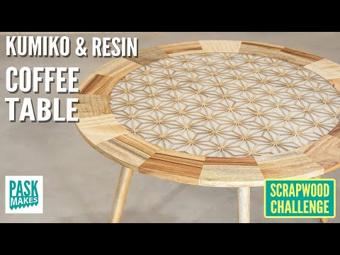 Making a Kumiko & Resin Coffee Table - Scrapwood Challenge ep39