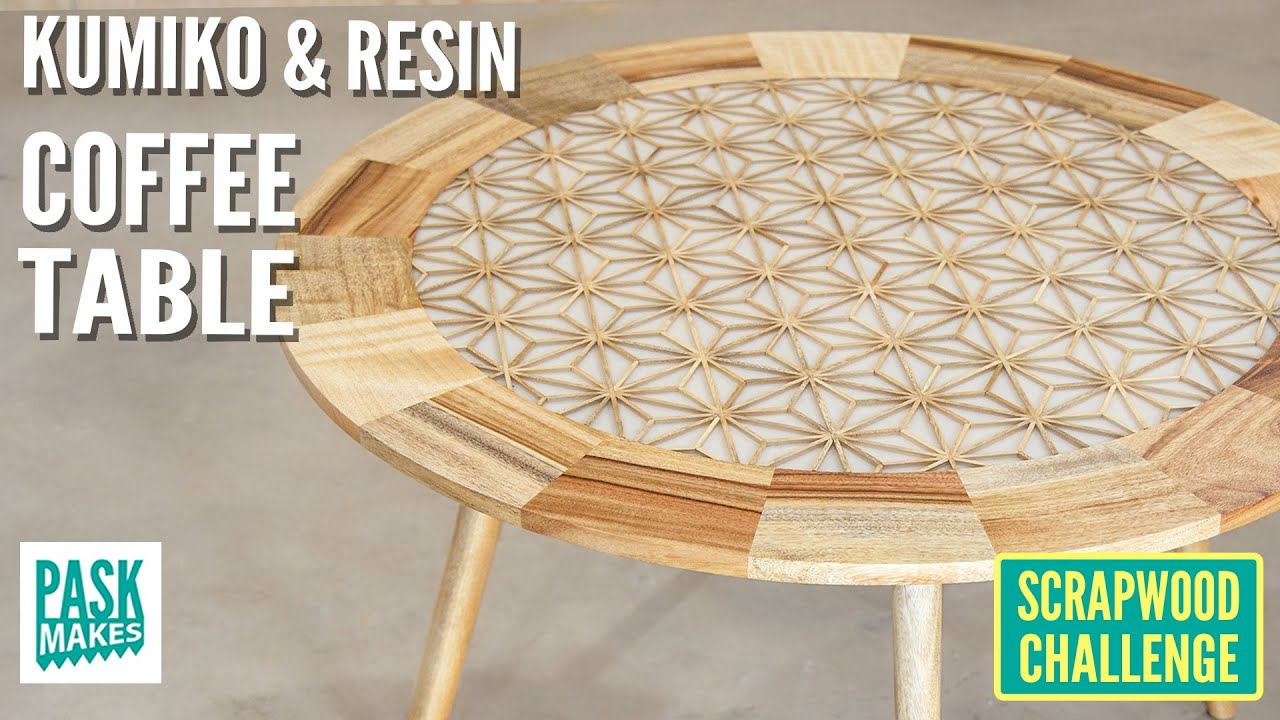 Making A Kumiko Resin Coffee Table Scrapwood Challenge Ep39 Youtube