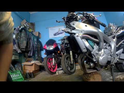 Замена подшипников рулевой колонки мотоцикла на примере Yamaha FZ6