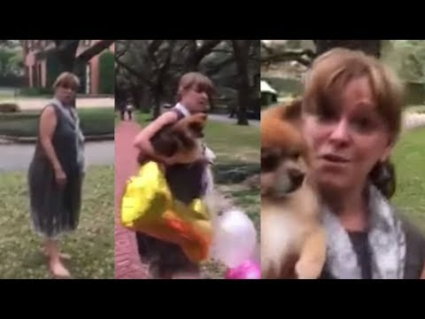 RAW: Woman Confronts Family Taking Baby Birthday Photos