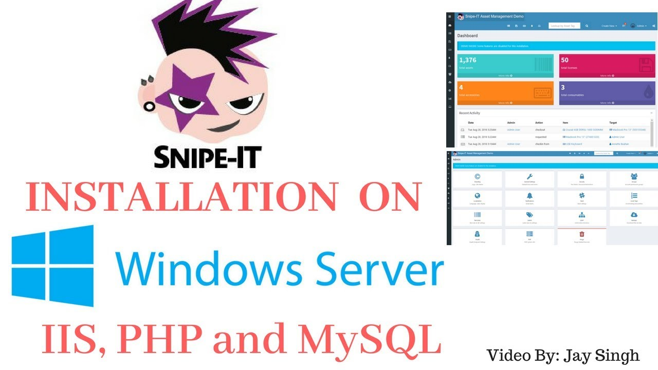 how to install snipe it on windows server 2016
