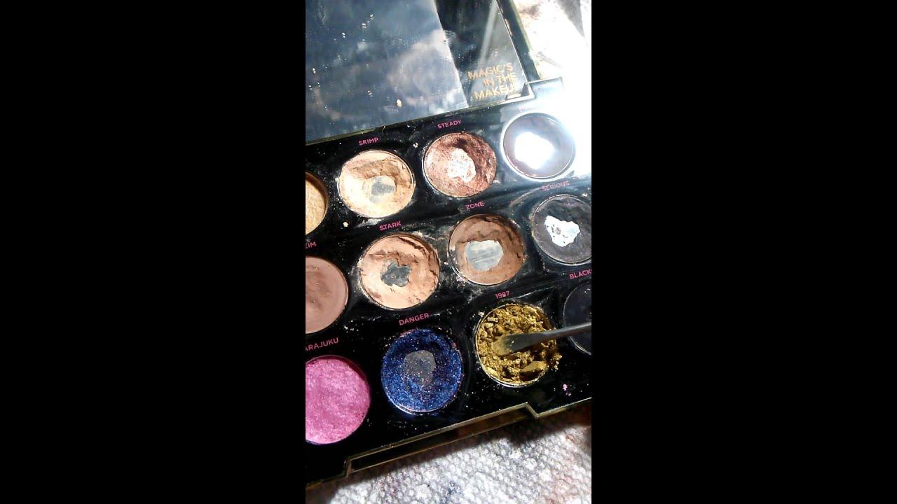 how to pack broken eyeshadow