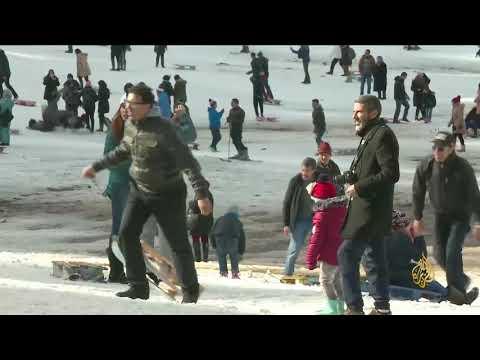هذا الصباح-بياض الثلوج ومتعة التزحلق بإفران المغربية  - 11:22-2018 / 1 / 20