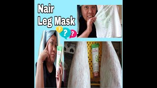 NAIR LEG MASK HAIR REMOVAL TEST AND REVIEW
