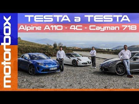 Alfa 4C VS Alpine A110 VS Porsche 718 Cayman | Qual è la sportiva da scegliere? 4K [ENGLISH SUB]