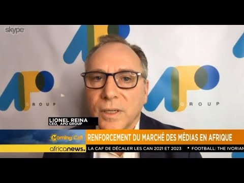 Lionel Reina, CEO of APO Group on africanews (euronews subsidiary) on Dec. 5, 2018