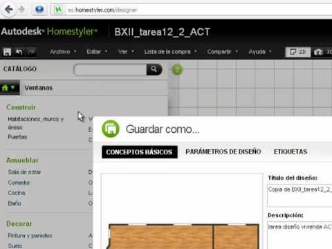 Autodesk Homestyler uso sencillo - YouTube