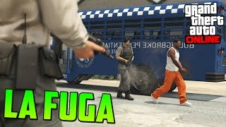 LA FUGA DE LA PRISIÓN - ATRACOS A BANCOS GTA V ONLINE PS4 - La Fuga de la Prisión #1 - GTA 5 Online