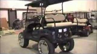 golf cart with 22 car rims