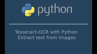 How to extract text from images using tesseract with Python(Tesseract OCR with Python)