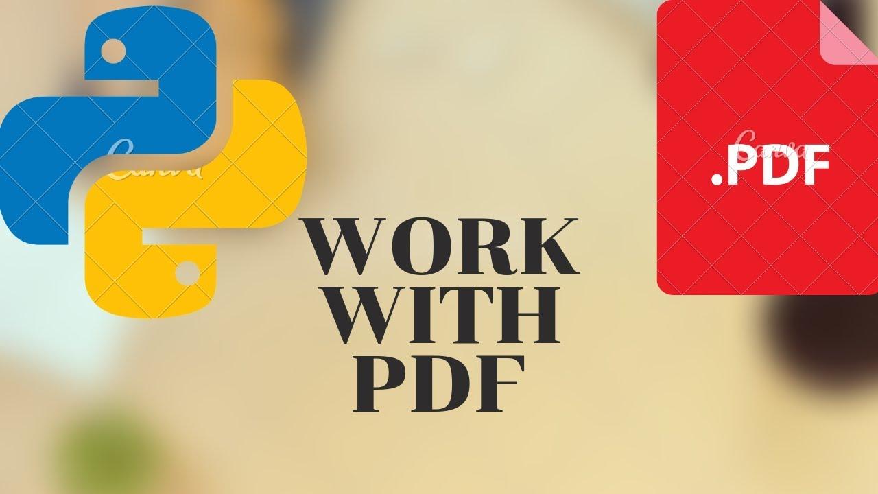 Work With PDF Using Python