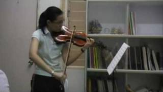 Wieniawski Violin Concerto 2nd movt (Malaysia) 14 years old