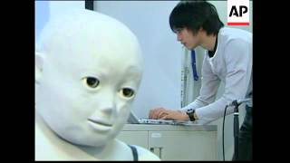 Humanoid robot reacts to touch and sound