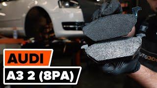 AUDI A3 Sportback (8PA) hátsó és első Fékbetét szerelési: ingyenes videó