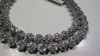 LabMadeJewelry.com $149.95 High-Quality! WHITE Lab Made Diamond Cluster Chain video Rick Ross