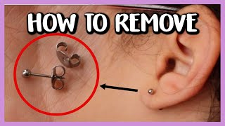 HOW TO REMOVE PIERCING EARRINGS WITH BUTTERFLY BACKINGS + WHAT TO DO IF IT'S STUCK!