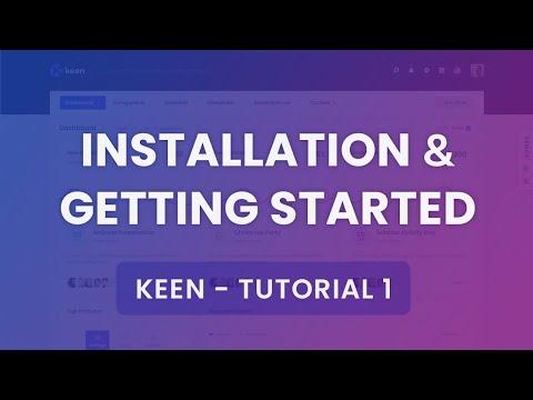 [Below V1.3.9] Installation & Getting Started Tutorial #1 - Keen Admin Theme