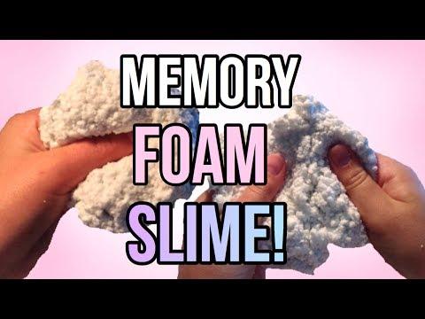 DIY MEMORY FOAM SLIME! How to make the BEST slime!