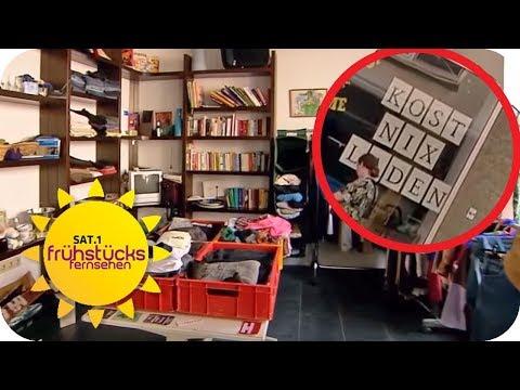 """Alles kostenlos: In dem Laden """"Kostnix"""" ist alles kostenlos!   SAT.1 Frühstücksfernsehen   TV"""