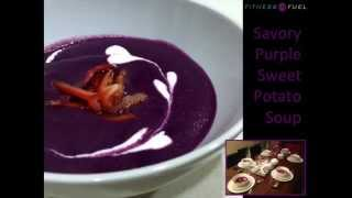 Healthy Savory Purple Sweet Potato Soup For Holiday Meal