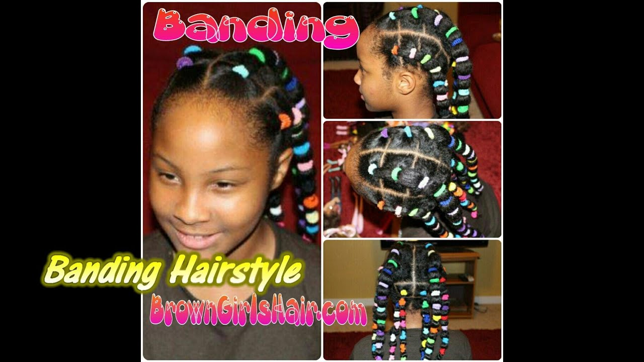 Banding Hairstyle On Natural Girls Hair Youtube