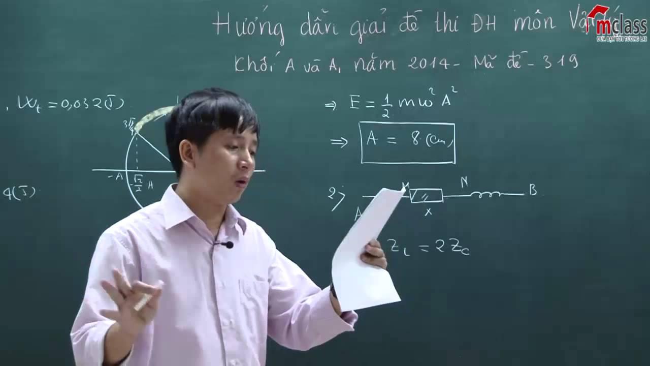 Hướng Dẫn Giải Đề Thi Đại Học Môn Vật Lý Khối A,A1 Năm 2014 – Thầy Lê Tiến Hà