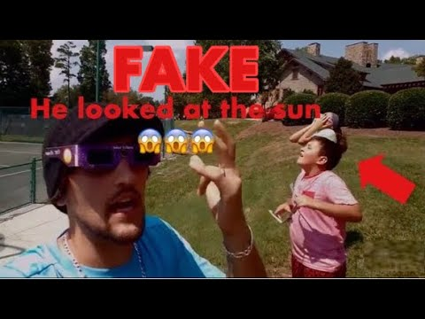 Mike from FunNel Vision goes blind from solar eclipse
