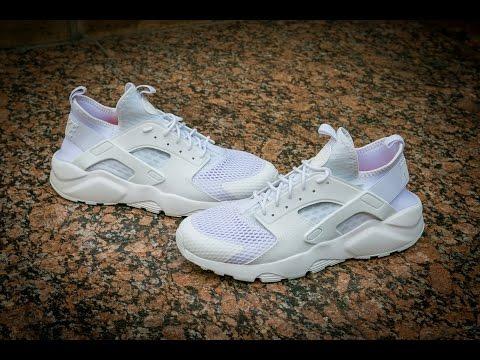 006098444668f Nike Air Huarache Run Ultra BR Triple White