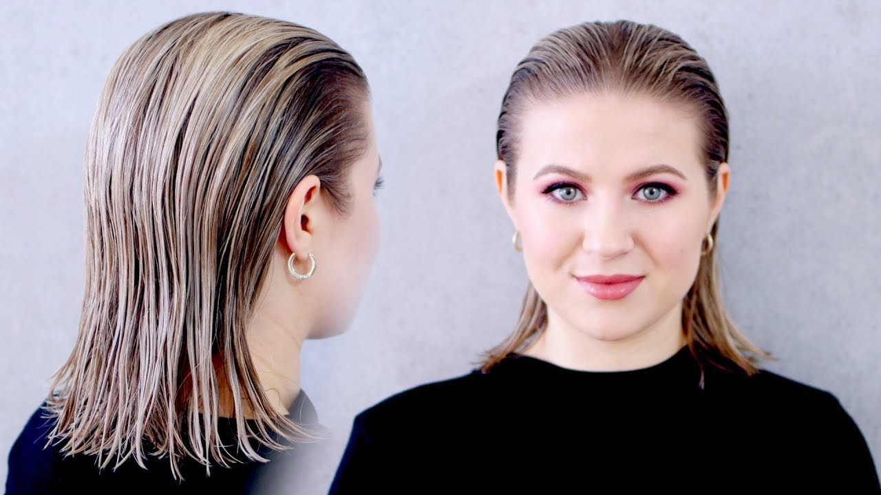 "how to achieve the ""wet"" slicked back hairstyle: super easy!"