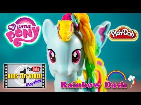 Play-Doh My Little Pony Rainbow Dash Style Salon Set Video