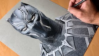 Drawing Black Panther - Marvel  - Timelapse | Artology