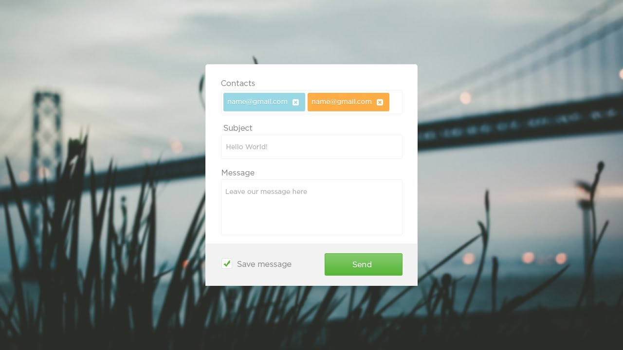 Create a Simple Contact Form in Adobe Photoshop and Converting ...