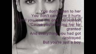 Beyonce - If i were a boy - Karaoke/Instrumental + Lyrics on screen