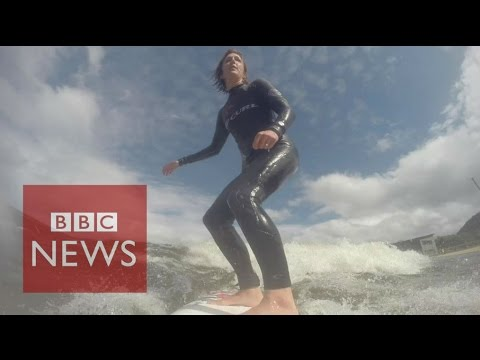 World's longest man-made wave set to open in Wales - BBC News