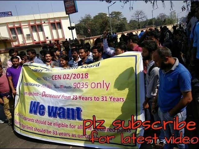 Protest against RRB Group-D Part-2