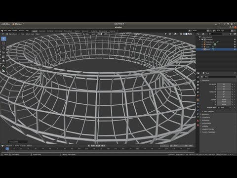 Blender 2.80 Tutorial: Create A Simple Wire Frame/Cage From A Solid Object.