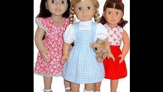 American Girl Doll Clothes Patterns Pinafore Dress And Skirt
