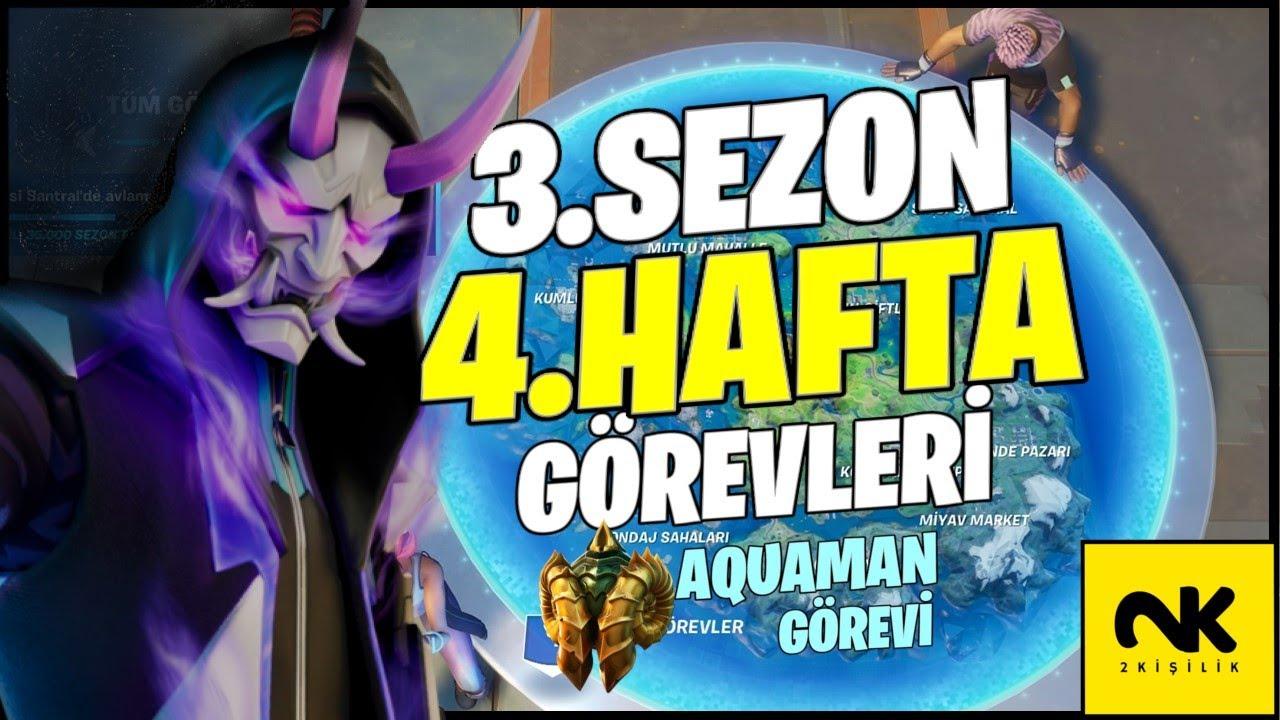 Fortnite 3. Sezon 4. Hafta Görevleri & Aquaman Görevi ve Ödülü
