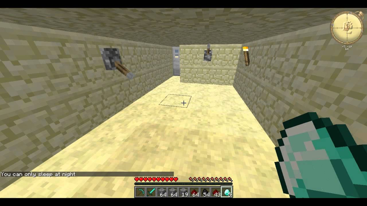 how to make a lever operated door in minecraft