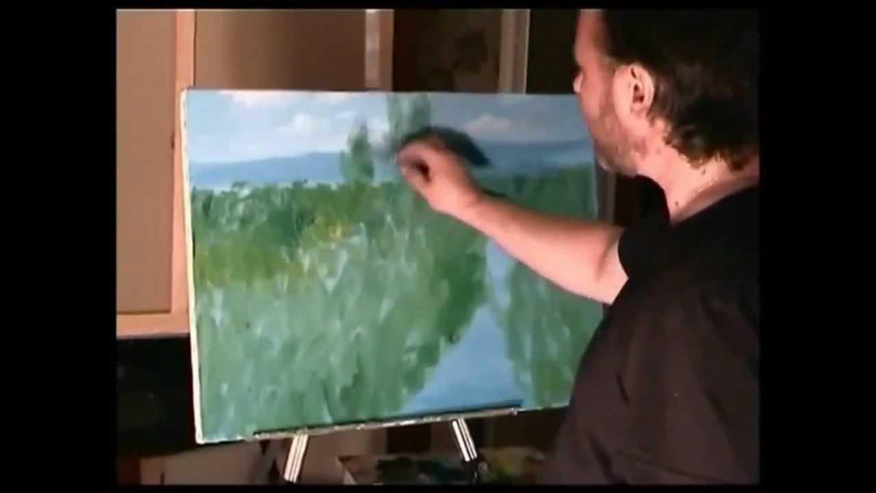 Top Zuccheri, pittura olio su tela della foresta, erba, fiori - YouTube MX83